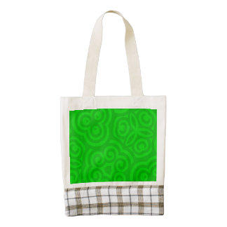 Green Abstract Pattern Zazzle HEART Tote Bag