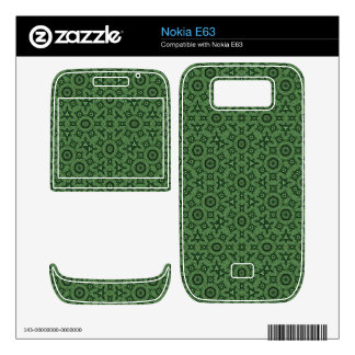 Green abstract patttern nokia e63 skin