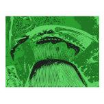 Green Abstract. Postcard