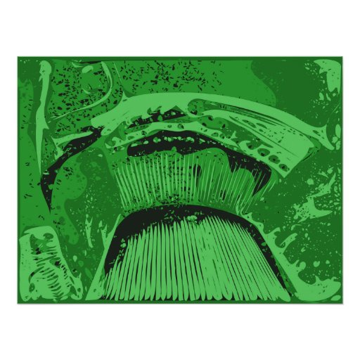 Green Abstract. Poster