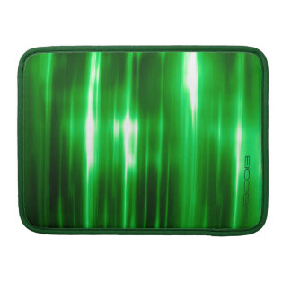 green abstract shiny ights pattern personalized by sleeve for MacBook pro
