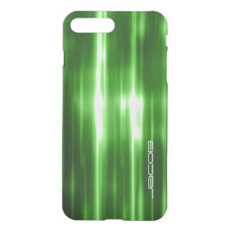 green abstract shiny lights personalized by name iPhone 8 plus/7 plus case