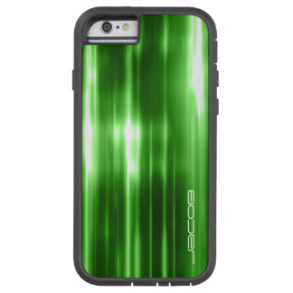 green abstract shiny lights personalized by name tough xtreme iPhone 6 case
