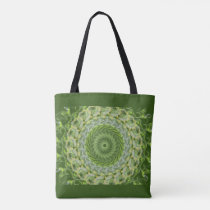 Green abstract shoulder bag