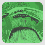 Green Abstract. Square Sticker