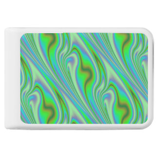 Green Abstract Swirl Power Bank