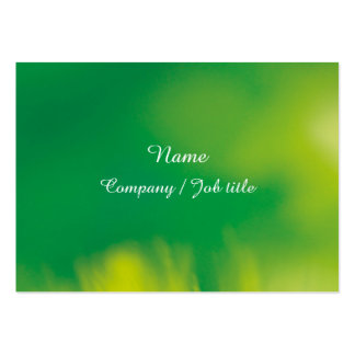 Green Abstract Synergic Energize Businesscard Large Business Card