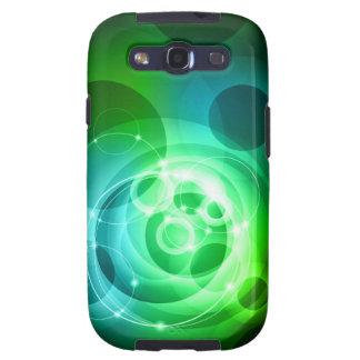 Green abstract tech design samsung galaxy SIII cover