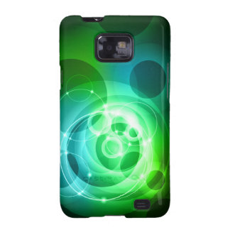Green abstract tech design samsung galaxy SII cover