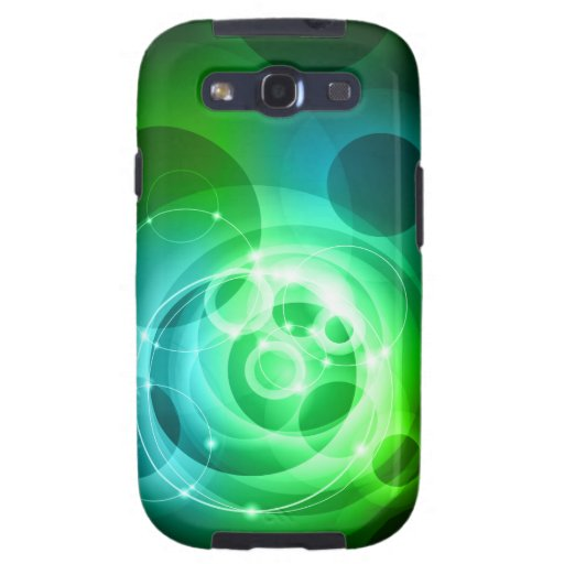 Green abstract tech design galaxy SIII covers