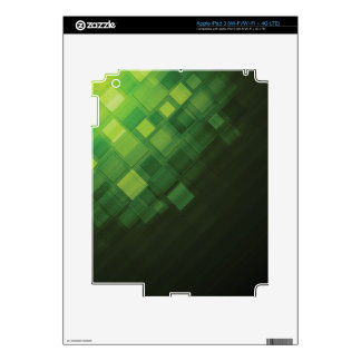 Green abstract technology design decals for iPad 3