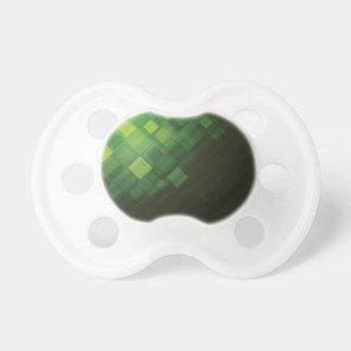 Green abstract technology design pacifier