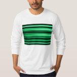 Green Abstract Tee Shirts