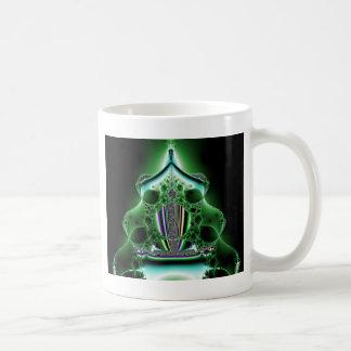 Green Abstract Tower Blob Coffee Mug