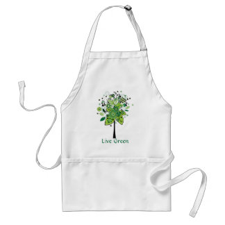 Green Abstract Tree Adult Apron