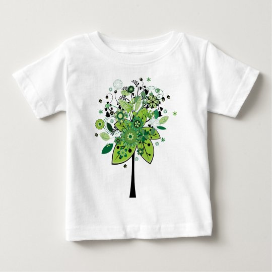 Green Abstract Tree Baby T-Shirt