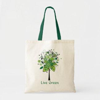 Green Abstract Tree Bag