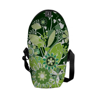 Green Abstract Tree Courier Bag