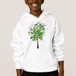 Green Abstract Tree Hoodie