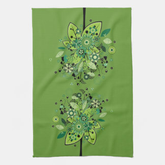 Green Abstract Tree Kitchen Towel