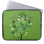 Green Abstract Tree Laptop Computer Sleeves