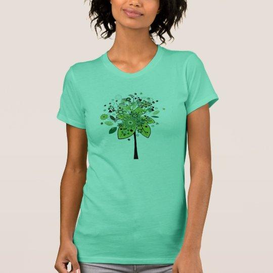 Green Abstract Tree T-Shirt