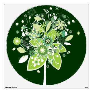 Green Abstract Tree Room Decal