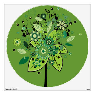 Green Abstract Tree Wall Graphics