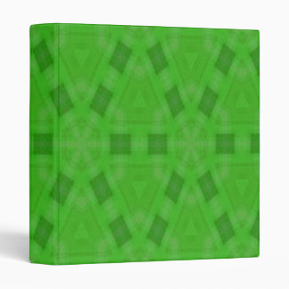 Green abstract wood Pattern 3 Ring Binders