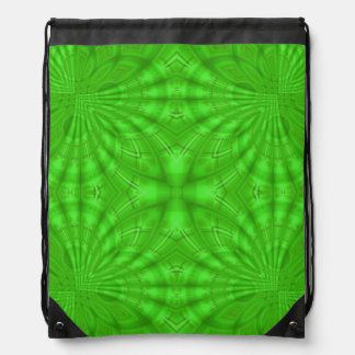 Green abstract wood Pattern Cinch Bag