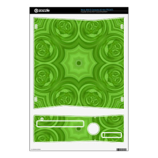Green abstract wood pattern decals for xbox 360 s