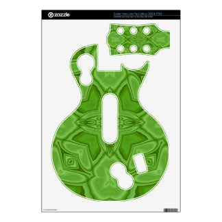 Green abstract wood pattern guitar hero skins