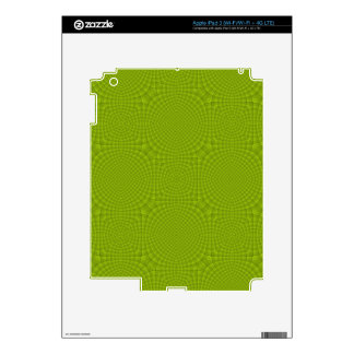 Green abstract wood pattern iPad 3 decal