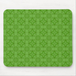 Green abstract wood pattern mouse pad