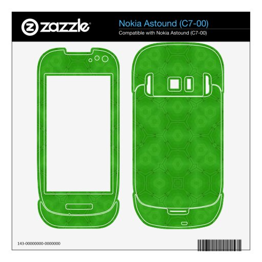 Green abstract wood Pattern Nokia Astound Decals
