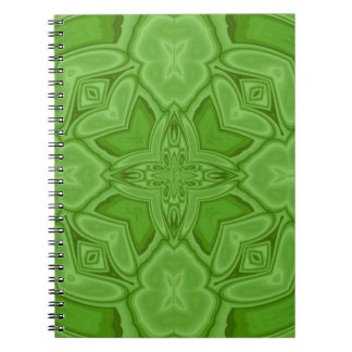Green abstract wood pattern notebook