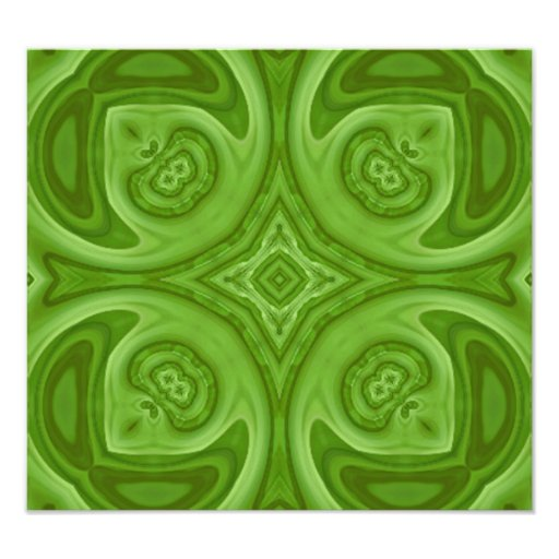 Green abstract wood pattern photo print