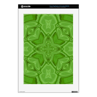 Green abstract wood pattern PS3 skins