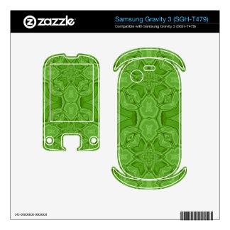 Green abstract wood pattern samsung gravity 3 skin