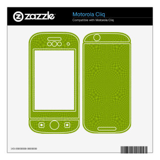 Green abstract wood pattern decal for motorola cliq