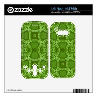 Green abstract wood pattern skin for the LG neon