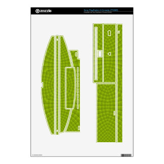 Green abstract wood pattern decals for PS3