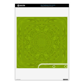 Green abstract wood pattern PS3 slim decal