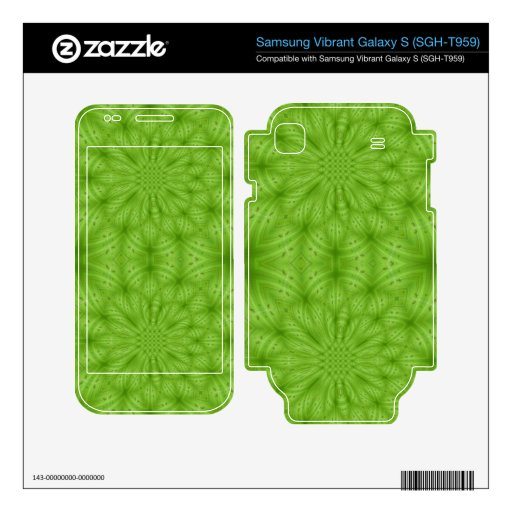 Green abstract wood pattern skin for samsung vibrant