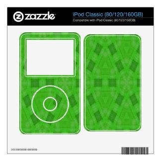 Green abstract wood Pattern iPod Skin