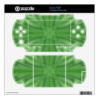 Green abstract wood Pattern Skins For The Sony PSP