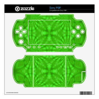 Green abstract wood Pattern PSP Skin