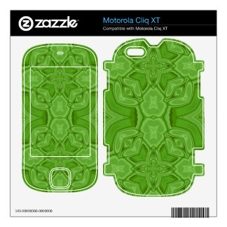 Green abstract wood pattern motorola cliq XT skins