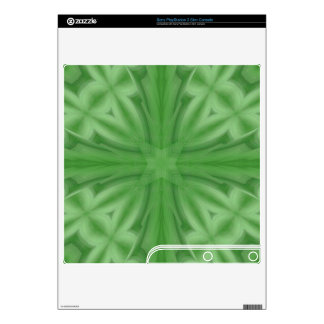 Green abstract wood Pattern Skins For The PS3 Slim