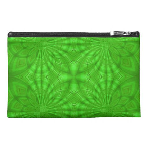 Green abstract wood Pattern Travel Accessory Bag